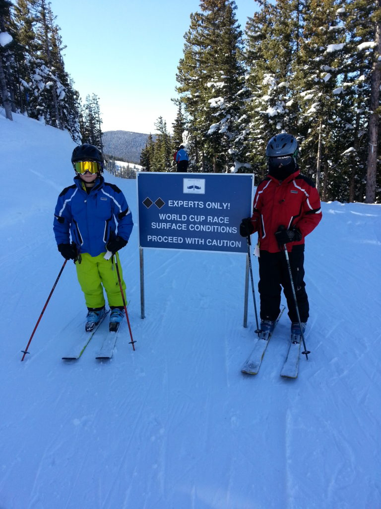 What Daniel and Mason get to do on their boys weekend ski trip without their nervous mommy there