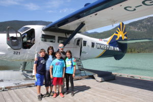 Family photo prior to our seaplane flight in Whistler, BC.